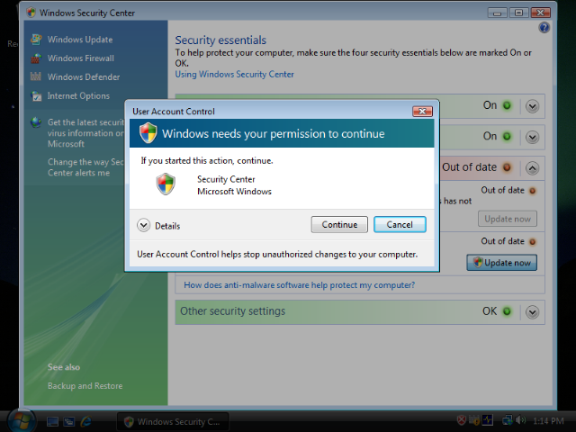 User Account Control in Windows Vista