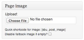WordPress page header images made easy with SB Uploader